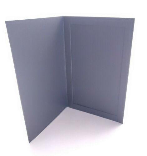 "20-Pack 4"" x 6"" Rigid Photo Folder Holders - Black Textured Card"