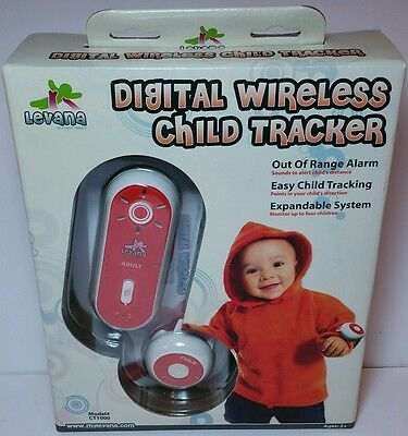 WIRELESS  Levana CT1000 Digital Child Tracker Wrist Watch and Kid Finder/Locator Levana Digital Wireless
