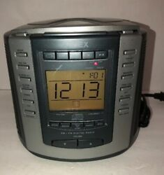 Timex T601G AM/FM Radio CD Player with Alarm Clock Snooze & Nature Sounds-RARE