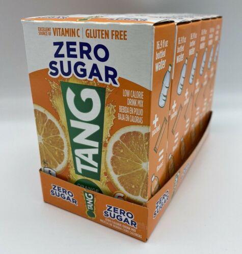Lot of 6 Boxes TANG Zero Sugar SINGLES TO GO Drink Mix Orange Tang