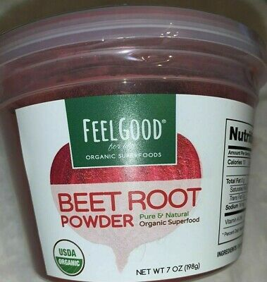 Feel Good For Life Organic Superfood Beet Root Powder (Pure and Natural)10/ 2020 Organic Pure Life