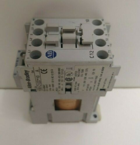 GUARANTEED! GOOD ALLEN-BRADLEY 12A 3-POLE 12V COIL CONTACTOR 100-C12DJ01