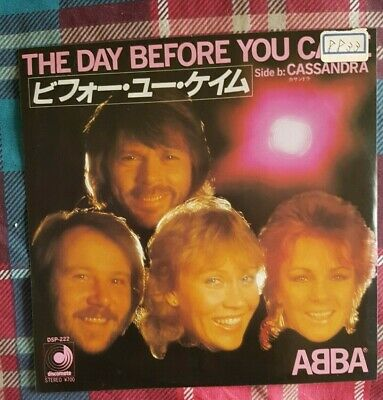 "ABBA - 'The Day Before You Came' Japan PROMO  7"" & PictureLyric Insert"