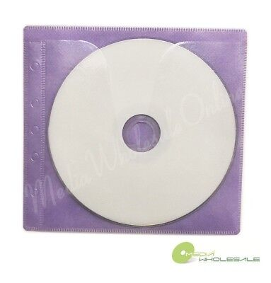 1000 Non Woven Cd Dvd Purple Color Double Sided Plastic Sleeve - Hold 2000 Discs