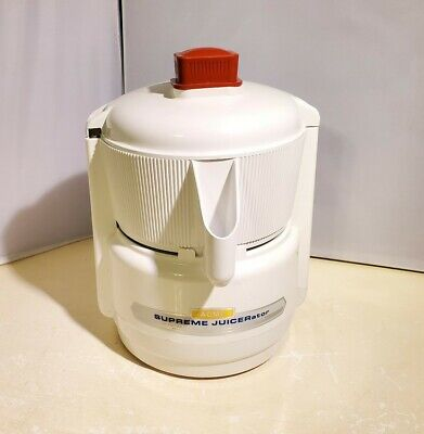 Vintage Acme Supreme JUICERator Centrifugal Food Juicer, 5001, White - Grade A+