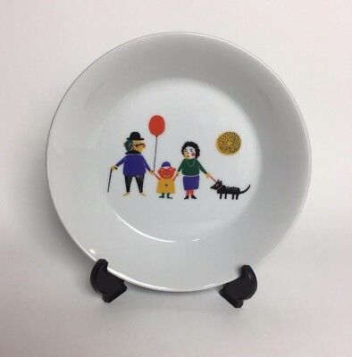 Unique Bauscher Weiden Bowl Bavaria Germany Family with dog and Balloon - Rare