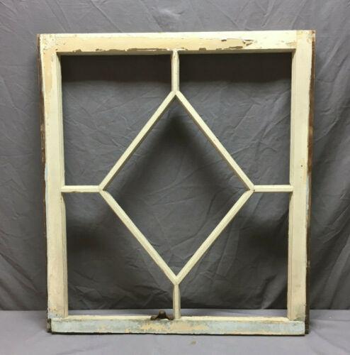 Antique Diamond Cottage Window Sash Shabby Vintage Chic 323-19L