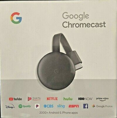 Google Chromecast (3rd Generation) 1080p Streaming Media Player New Sealed
