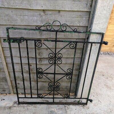 Wrought iron metal garden gate (vintage & VERY RARE design)
