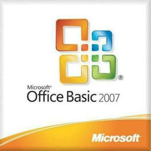 MICROSOFT OFFICE BASIC 2007 WORD EXCEL OUTLOOK FULL VERSION NEW SEALED WITH KEY