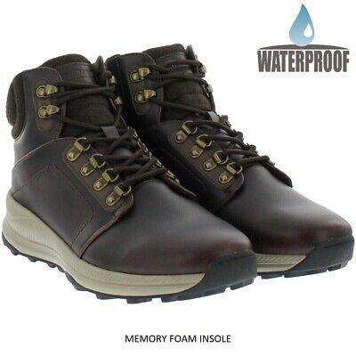 Khombu Men's Leather Waterproof Memory Foam Lightweight Hiking Trail Boots Size