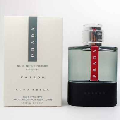 PRADA Luna Rossa CARBON By Prada EDT for Men 3.4 oz - 100 ml *NEW IN TST BOX*