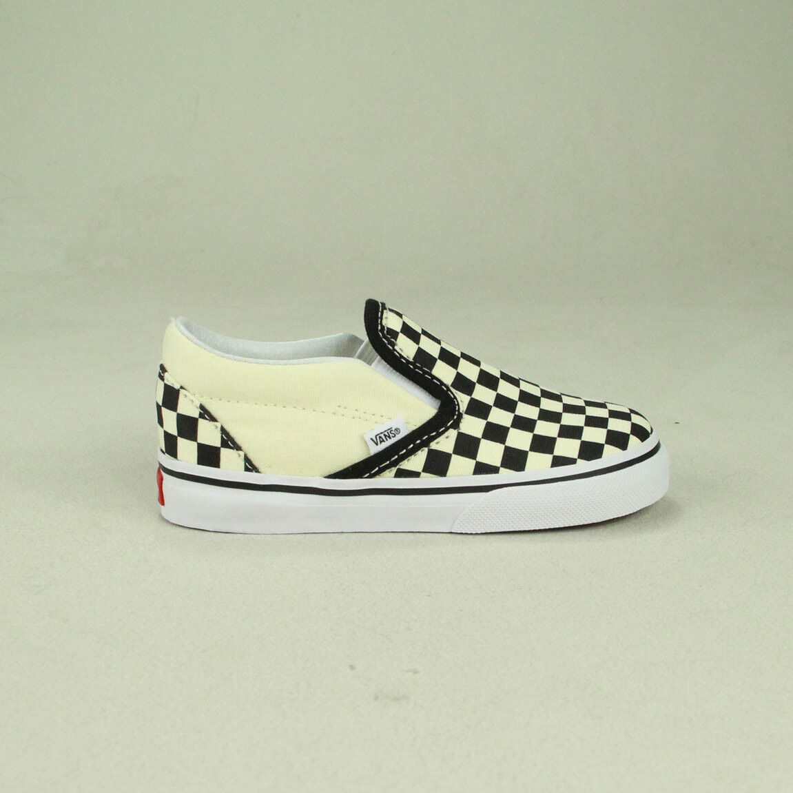 f6dad1980a7f Details about Vans Check Slip-On Toddlers Infants Trainer Black White Size  3.5