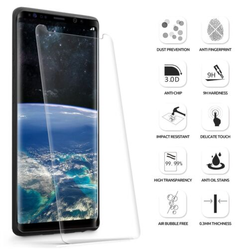 For Galaxy Note 8 Clear Poetic【Anti-Fingerprint】Tempered Glass Screen Protector