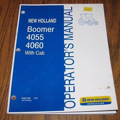 New Holland 4060 4055 Tractor Wcab Operators Owners Manual 408 Nh