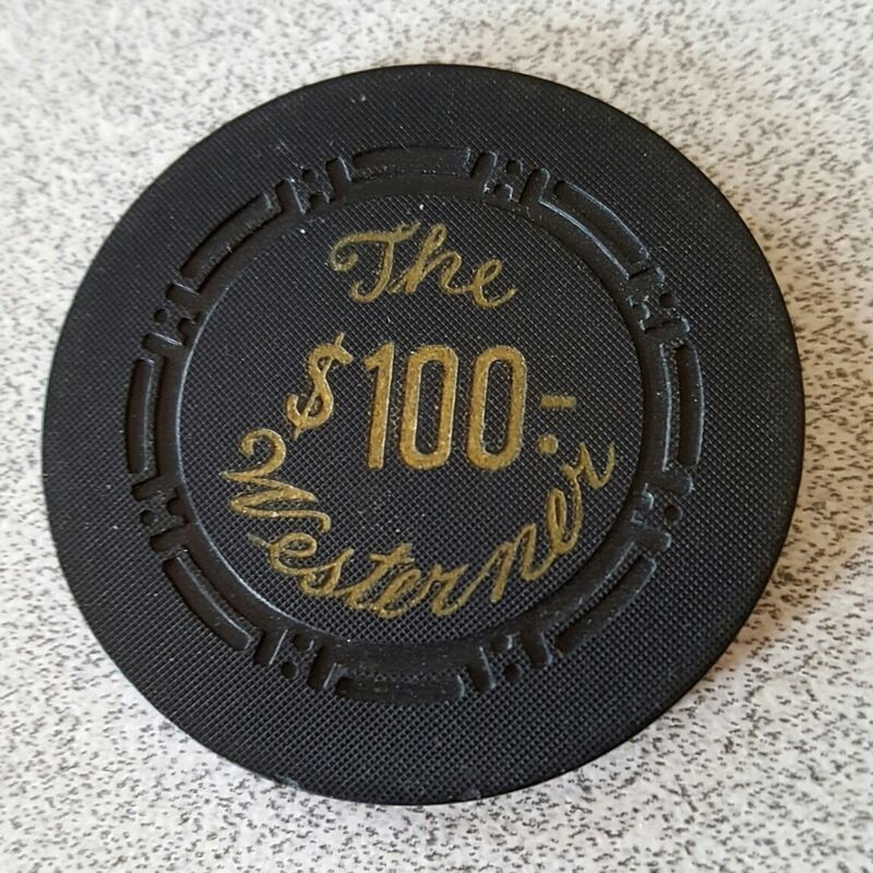$100 Las Vegas The Westerner Casino Chip - Near Mint