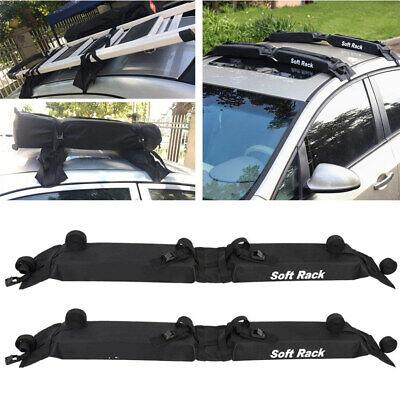 SUV Car Soft Roof Rack 2 Pcs Load 60kgs Foldable Surfboard Snowboards Carrier comprar usado  Enviando para Brazil
