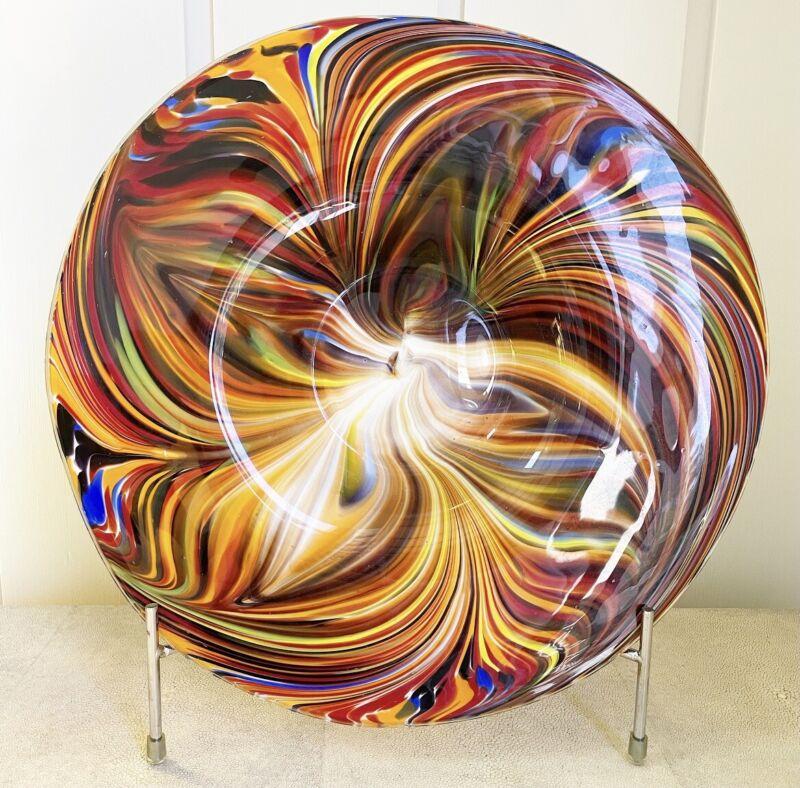 Missoni for Target Hand Blown Glass Large Platter Plate Swirl