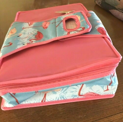 Pink Flamingo Portable Insulated Baking Dish Carrying Case for 11x13 Casserole