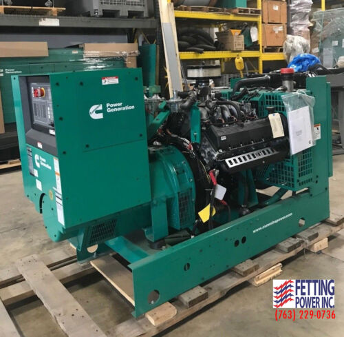 New 60kW Cummins Natural Gas Stationary Standby Generator GGHE | S/N: I160101728