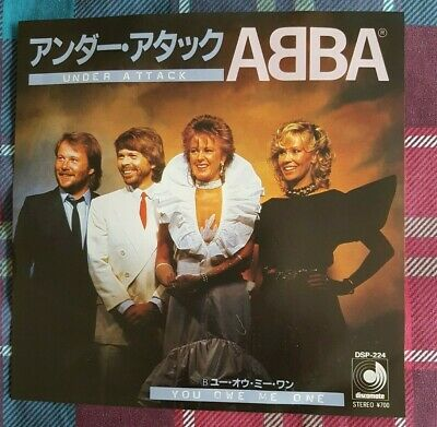 "ABBA - 'Under Attack' Japan 7"" & PictureLyric Insert"