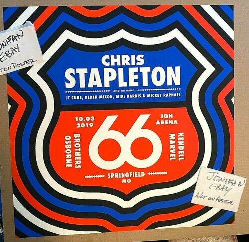 🔥 CHRIS STAPLETON Springfield MO OCT 3rd 2019 LTD SCREEN PRINT POSTER Route 66