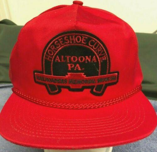 Vintage Red HORSESHOE CURVE Altoona Pa. Railroaders Memorial Museum Baseball Cap