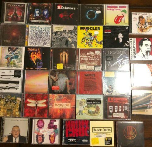 CD Lot of 34 Rock music CDs great variety- Motley Crue, Dark Horses, Dommin etc