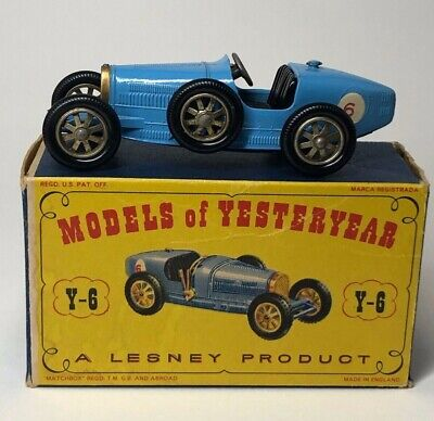 MATCHBOX MODELS OF YESTERYEAR 1923 Type 35 SUPERCHARGED blue BUGATTI Lesney #Y-6