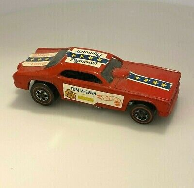 Hot Wheels Redline Vintage Tom McEwen Funny Car (Mongoose) red w/ decals