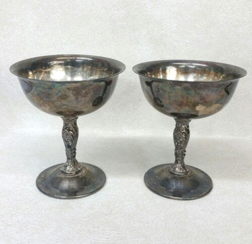 Pair of WM & Rogers Silverplate Goblets #S583