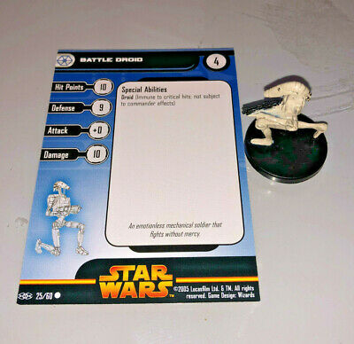 Star Wars Miniatures Revenge of the Sith BATTLE DROID #25
