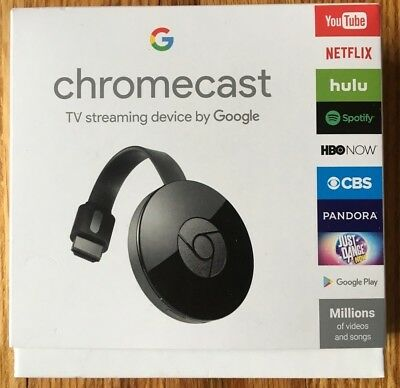 New Google Chromecast Digital Hdmi Media Streamer   2Nd Generation  2017 Model