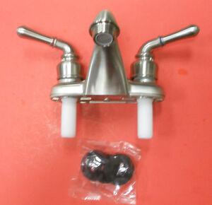 mobile home rv camper bathroom sink faucet brushed nickle 4 inch new. Black Bedroom Furniture Sets. Home Design Ideas