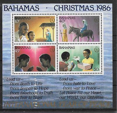 pa881 BAHAMAS/ Weihnachten 1986 MiNr Block 15 **