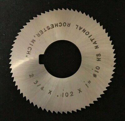 ".064/"" Thick x 1-3//4/"" Diameter x 5//8/"" Arbor Hole 90 Teeth HSS Screw Slotting Saw"