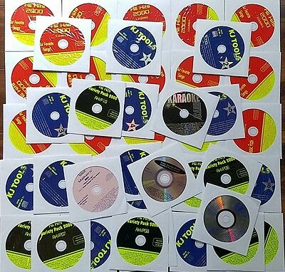 42 CDG DISCS KARAOKE LOT SET CD+G BEST SONGS 600+ SONGS ROCK,OLDIES,POP,COUNTRY