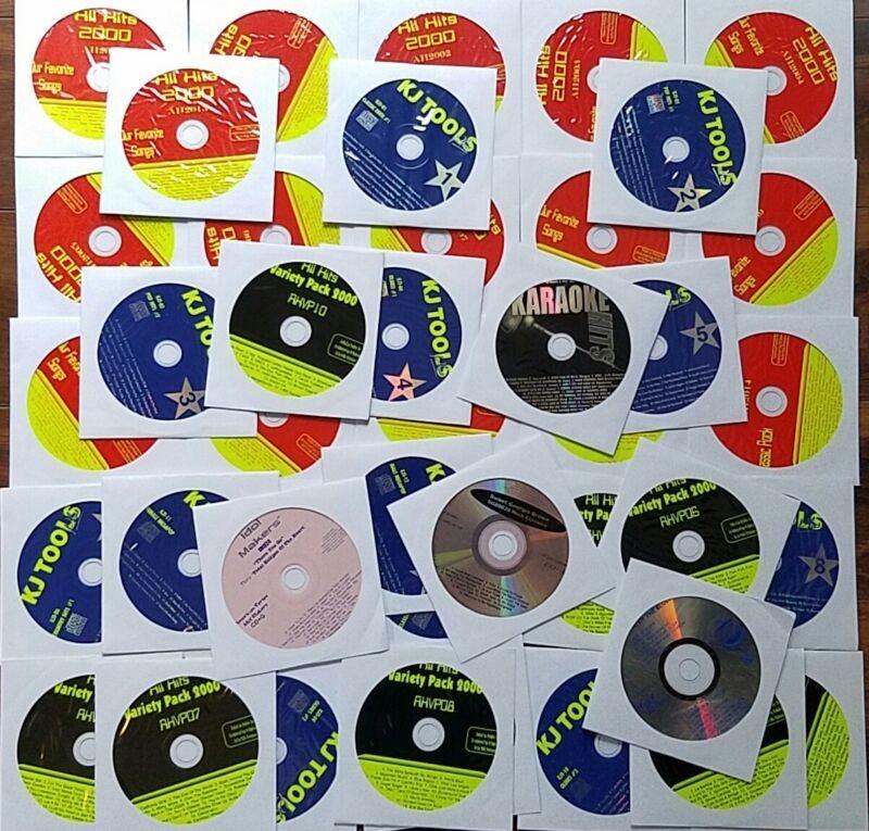 42 CDG DISCS KARAOKE LOT SET CD+G BEST HITS 600+ SONGS ROCK,OLDIES *2020 SALE*