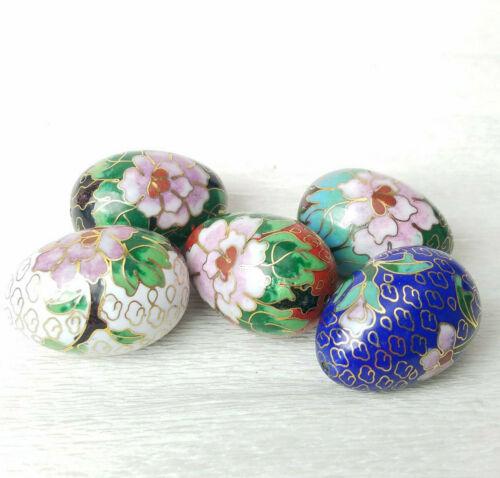 Chinese Cloisonne Enamel Beads LARGE Shape Egg Choice of Color 1 Bead