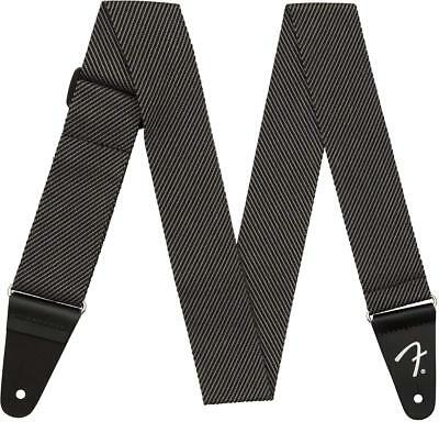 "Genuine Fender 2"" Modern Tweed Guitar Strap - Grey & Black - 099-1447-406"