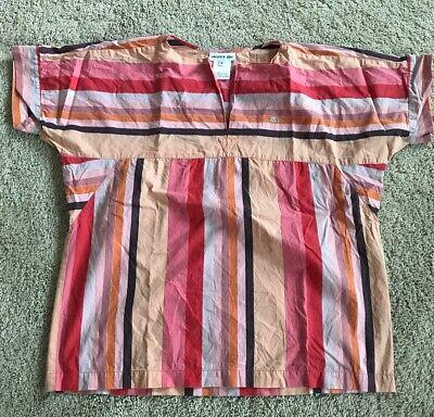 Lacoste Striped Short Sleeve Cotton Shirt Size 38
