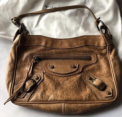 Beautiful Balenciaga 2005 Caramel Shoulder / Clutch Bag, BNWT