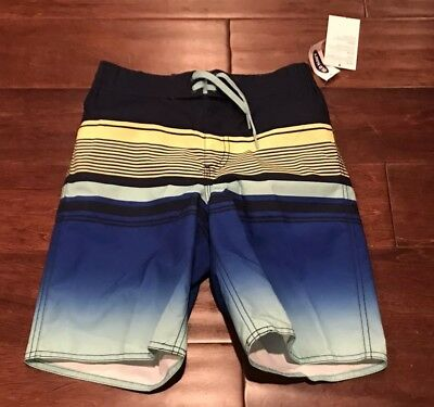 9033f83b06 Old Navy Big Boys Blue Yellow Green Mesh Lined Swim Board Shorts Sz M 8 NWT