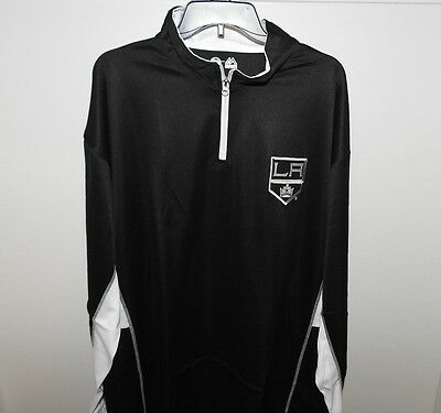 NHL Majestic Los Angeles Kings 1/4 Zip Hockey Jacket New Big & Tall Mens 3XL