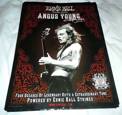 AC/DC~Angus Young~Ernie Ball~13x18~Original Poster~Facsimile Signed Autograph