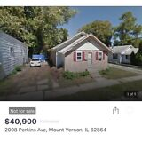 1 Story Single Family Home for sale with NO RESERVE in ILLINOIS!
