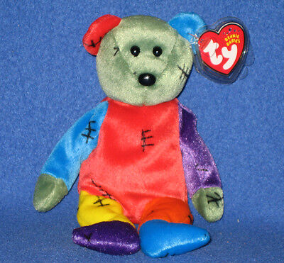 TY FRANKENTEDDY the HALLOWEEN BEAR BEANIE BABY - MINT with MINT TAGS