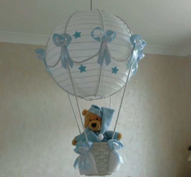 Disney princess in hot air balloon light lamp shade made to order ebay winnie the pooh in hot air balloon light lamp shade made to order aloadofball Images