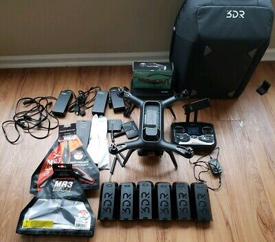 3dr Solo Drone W / Gimbal & Gopro 4, Upgraded Props, Extra Batteries & SPARES