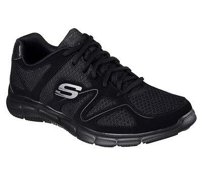 58350 W Wide Fit Black Skechers shoes Men